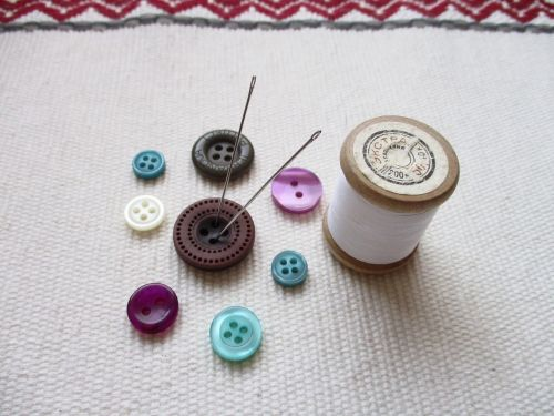 buttons thread needlework