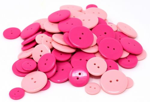 buttons pink colorful