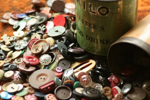 buttons button tin sewing