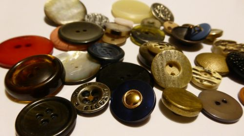 buttons collect hodge podge