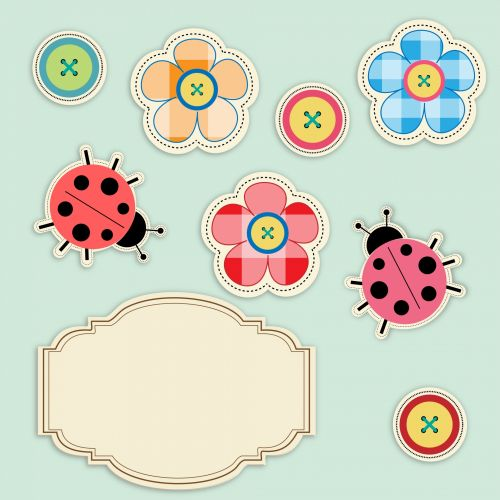 Buttons & Ladybugs Cute