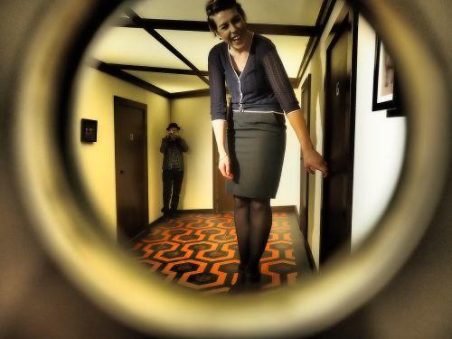 by looking peephole voyeur