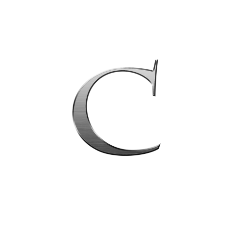 c letter metal