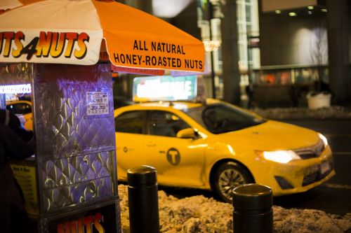cab yellow cab taxi