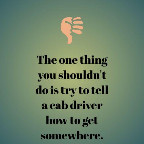 Cab Driver Absurd Question