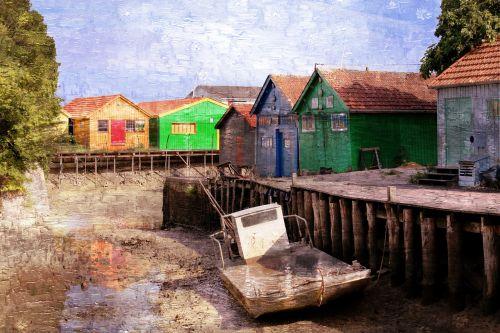 cabin fishing cabin on stilts