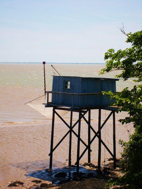 cabin on stilts fisherman's hut net