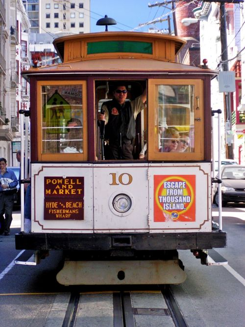 cable car trolley car transports