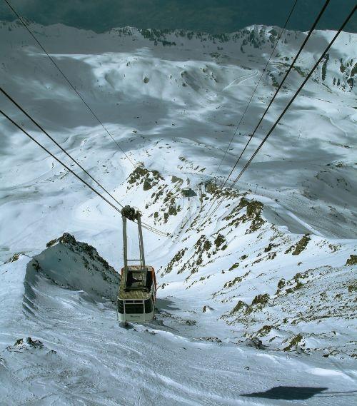 cable car winter gondola
