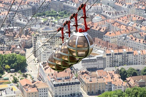 cable car  grenoble  city