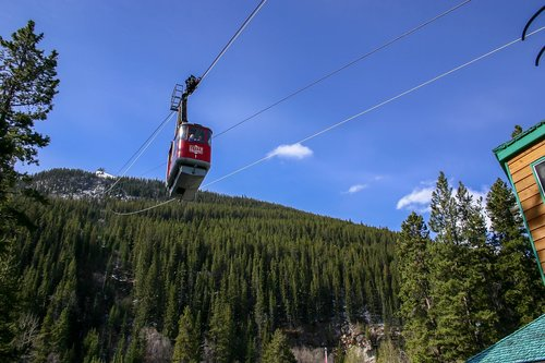 cable car  jasper  rocky mountains
