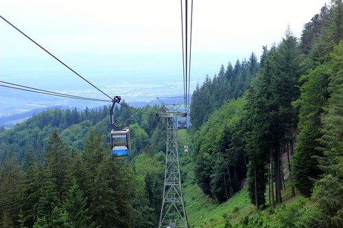 cable car  mountain  train