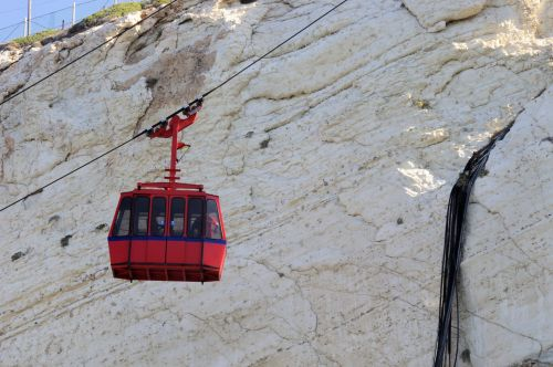 Cable Car At Rosh Hanikra, Israel