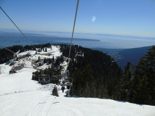 cable cart view snow