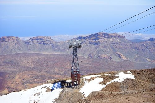 cableway masts cable car teleférico del teide