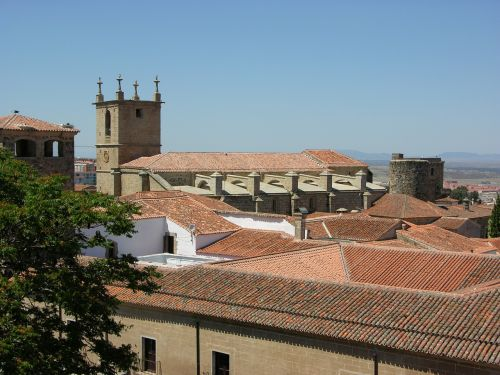 cáceres rooftop view heritage