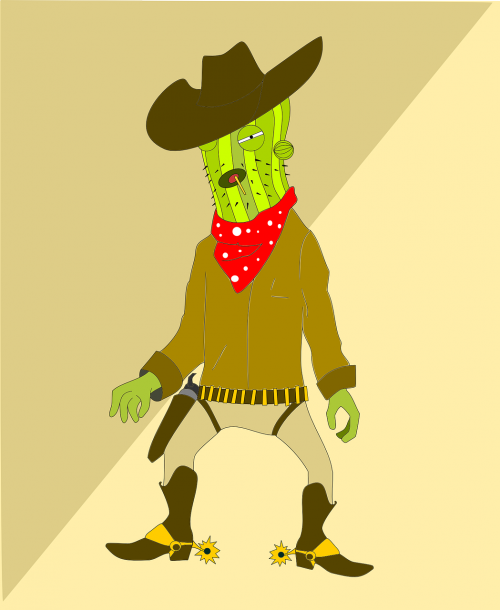 cactus character man