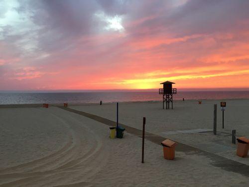 cadiz beach sunset