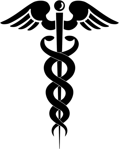 caduceus medical symbol medical logo