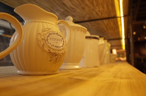 café ceramics kettle