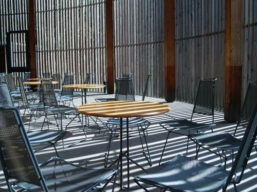 cafe side light deserted