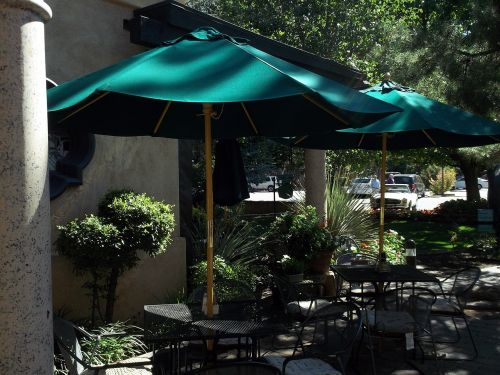 cafe umbrellas resort