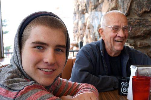 cafe grandfather grandson