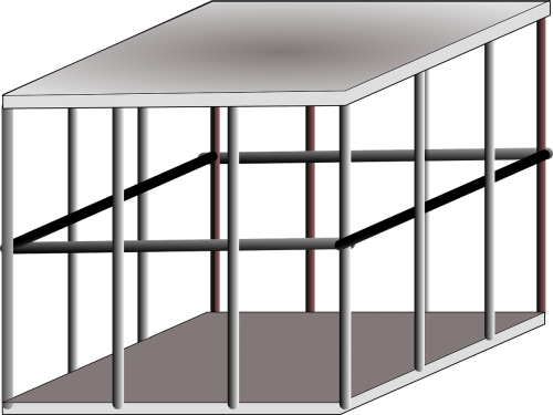 cage metal trapped