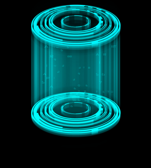 cage holography cylinder futuristic cage