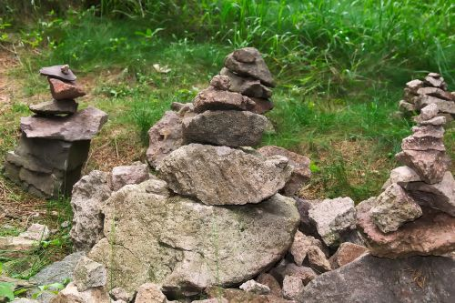 cairn stacked balance