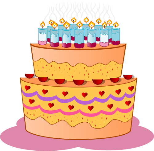 cake birthday candles