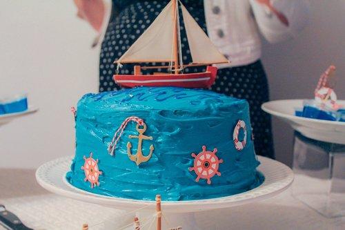 cake  sailboat  blue