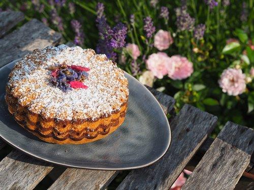 cake  icing sugar  garden