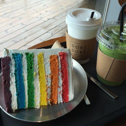 cake rainbow desert