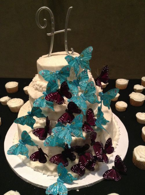 cake decorating wedding butterfly