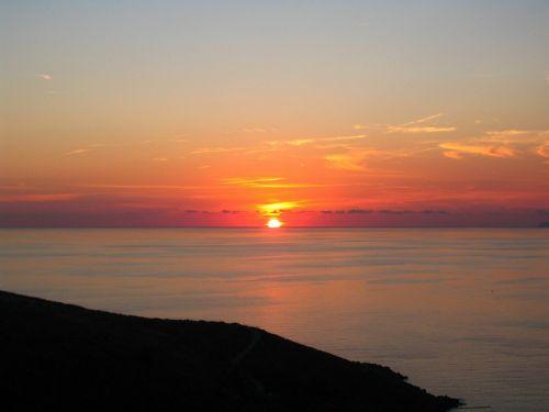 calabria sunset sea