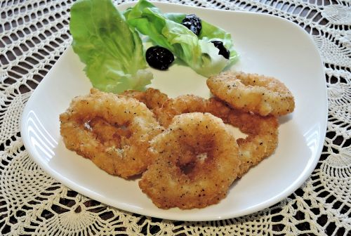 calamari squid roasted