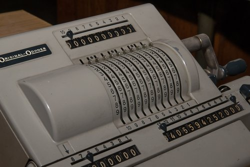 calculating machine  analog  old abacus