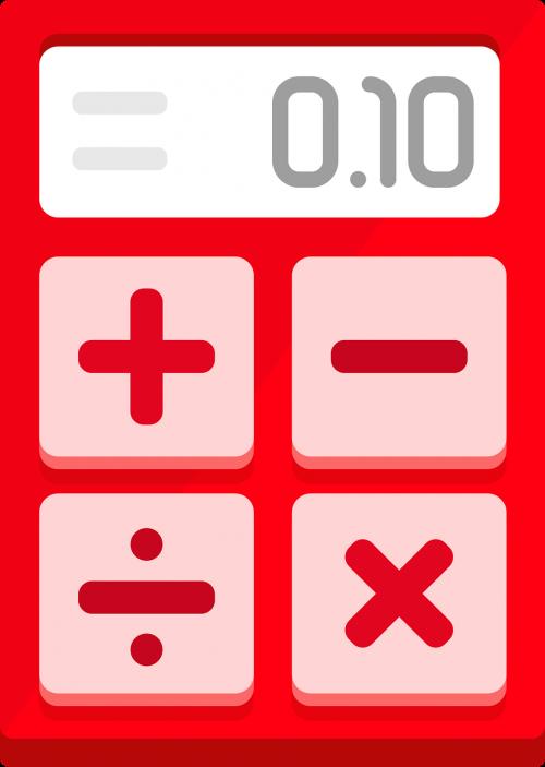 calculator red flat design
