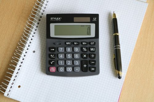 calculator pen block