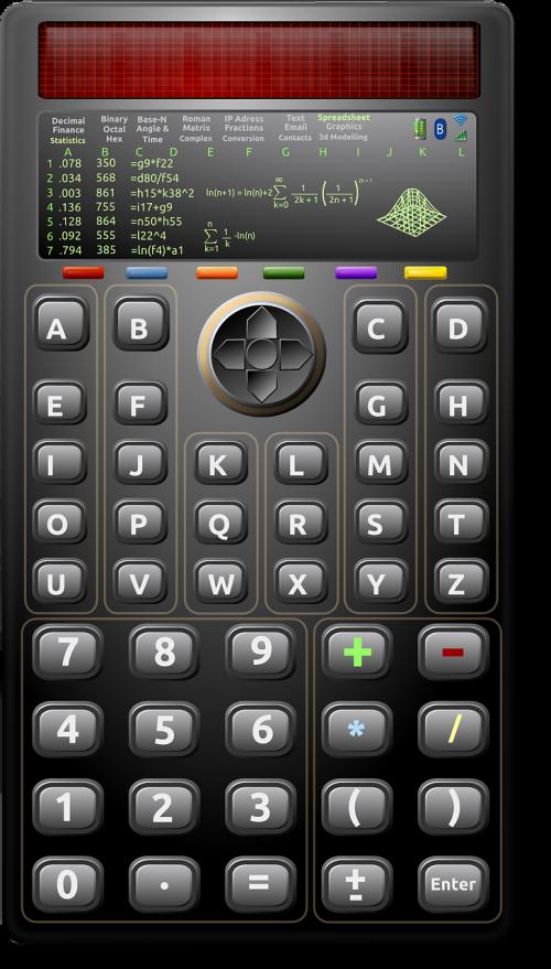 calculator keys mathematics