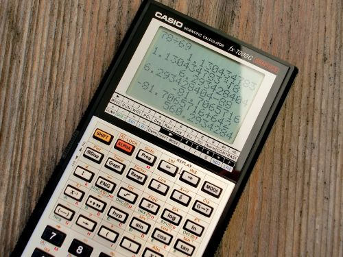 calculator graphing calculator casio fx-7000 g