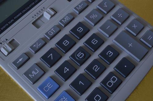 calculator calculation keypad