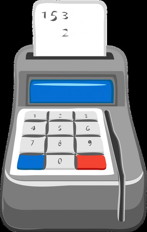 calculator checkout cash register