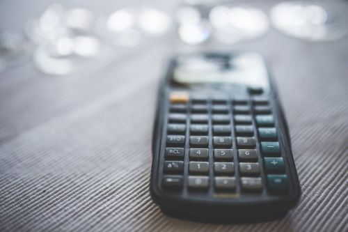 calculator numbers accounting