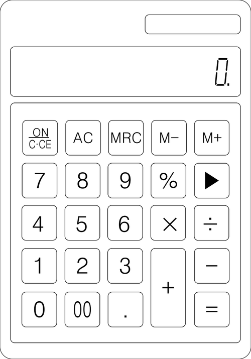 calculator  calculation  accounting