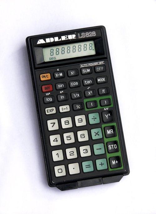 calculator  retro  old