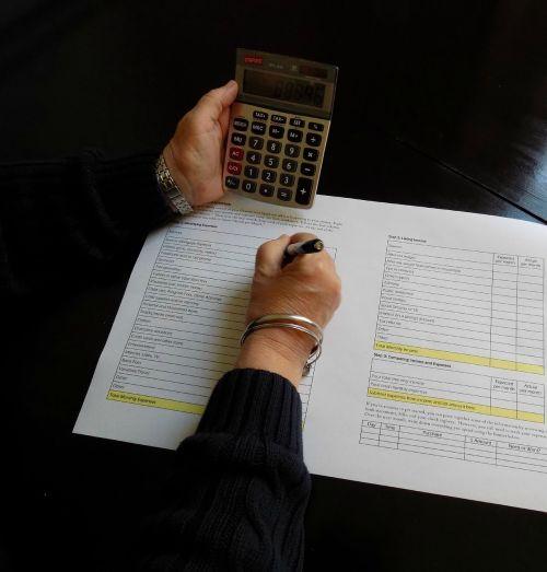 calculator budget math