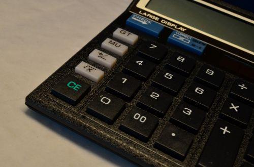 Calculator, Black Color