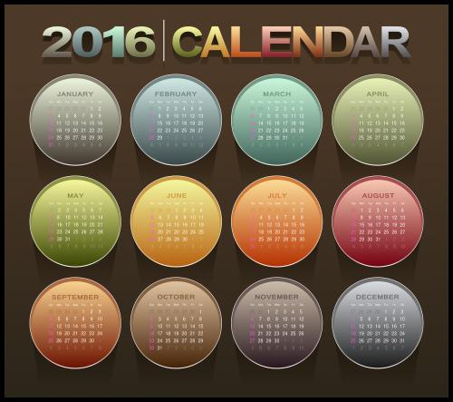 calendar 2016 new year